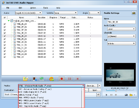 convertire DVD in MP3