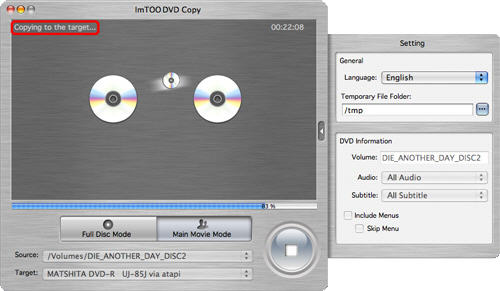fare copia di DVD su mac