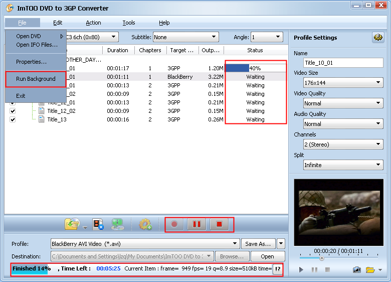 ImTOO DVD to Pocket PC Ripper Guide.
