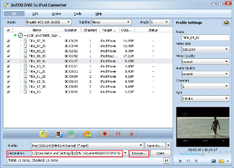 come vedere DVD su iPod