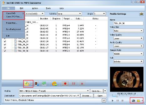 convertire DVD in MP4