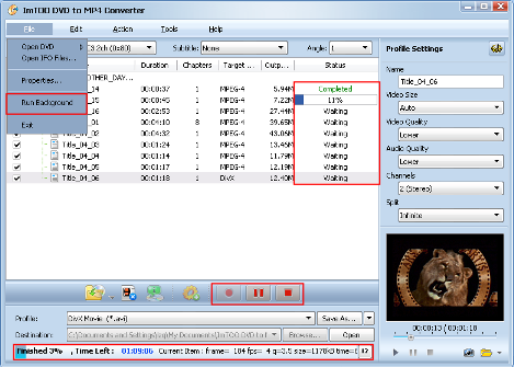convertire DVD in MP4