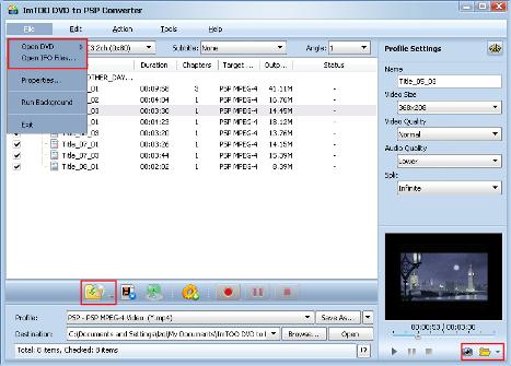 DVD su PSP