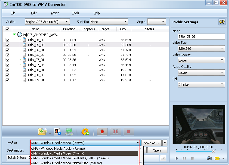 convertire DVD in WMV