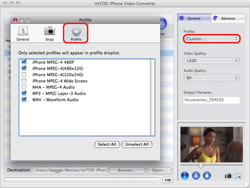 ImTOO iPhone Video Converter per Mac