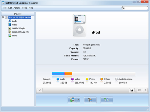 trasferire files da iPod a PC