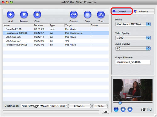 ImTOO iPod Video Converter for Mac