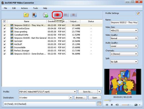 Convert WMV to PSP