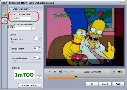 aggiungere watermark al video