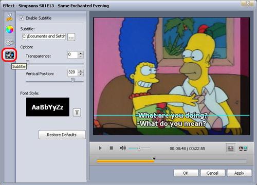 aggiungere sottotitoli al video