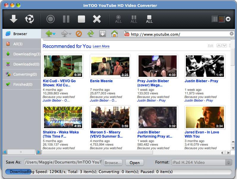 imtoo youtube video converter per mac