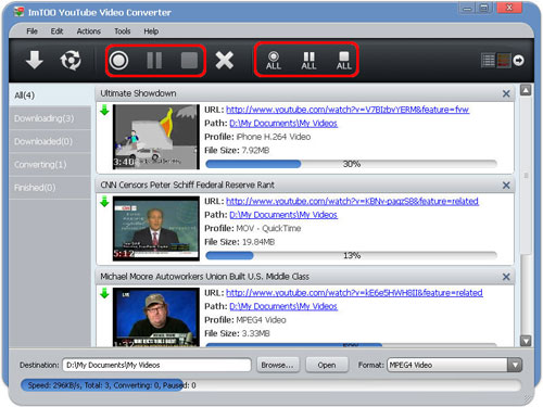 Download and Convert YouTube videos with ImTOO YouTube Video Converter