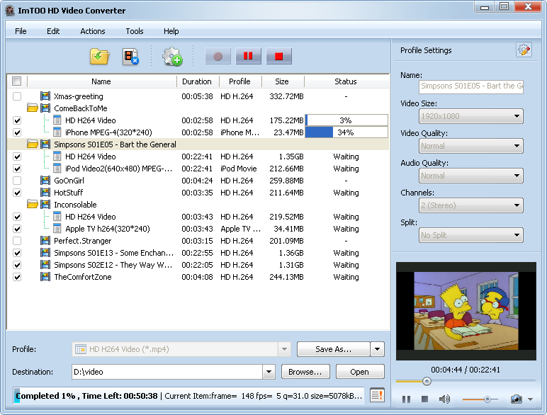 ImmTOO HD Video Converter  Resmi