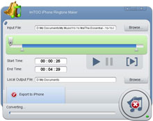 Click to view ImTOO iPhone Ringtone Maker 1.0.4.0121 screenshot