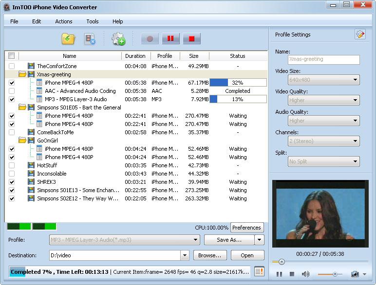 ������ ImTOO iPhone Video Converter v5 ������ ������� �� ���� Mac � iPhone ����