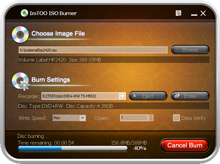 Click to view ImTOO ISO Burner 1.0.56.1231 screenshot
