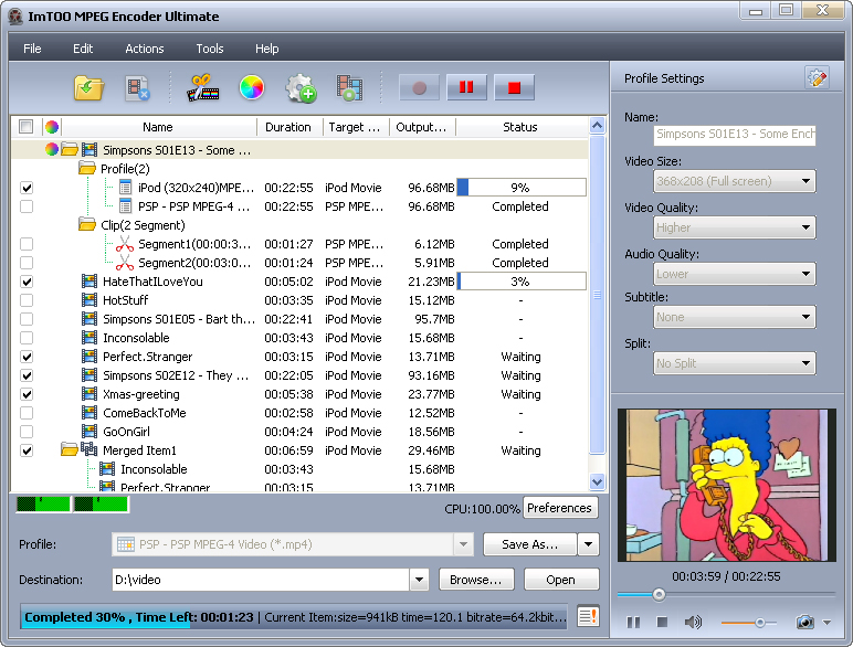 This is official screenshoot of the MPEG Encoder v3.15 from developer.