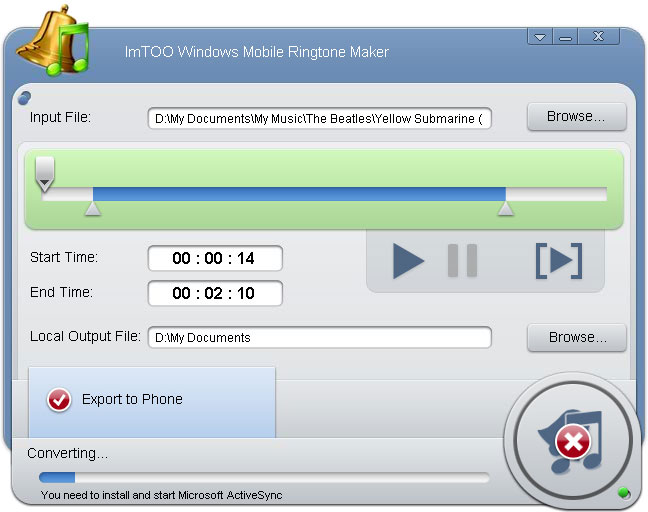 ImTOO iPhone Ringtone Maker 2.0.4.0416.